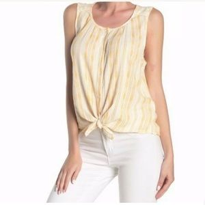 [Lucky Brand] NWT Yellow Stripe Cotton Shirt